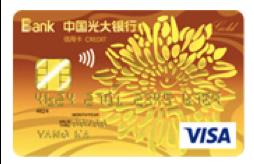 光大银行VISA阳光卡金卡